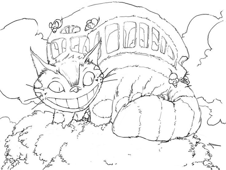 736x552 Cat Bus Coloring Page Fun With Learning Cats Bus