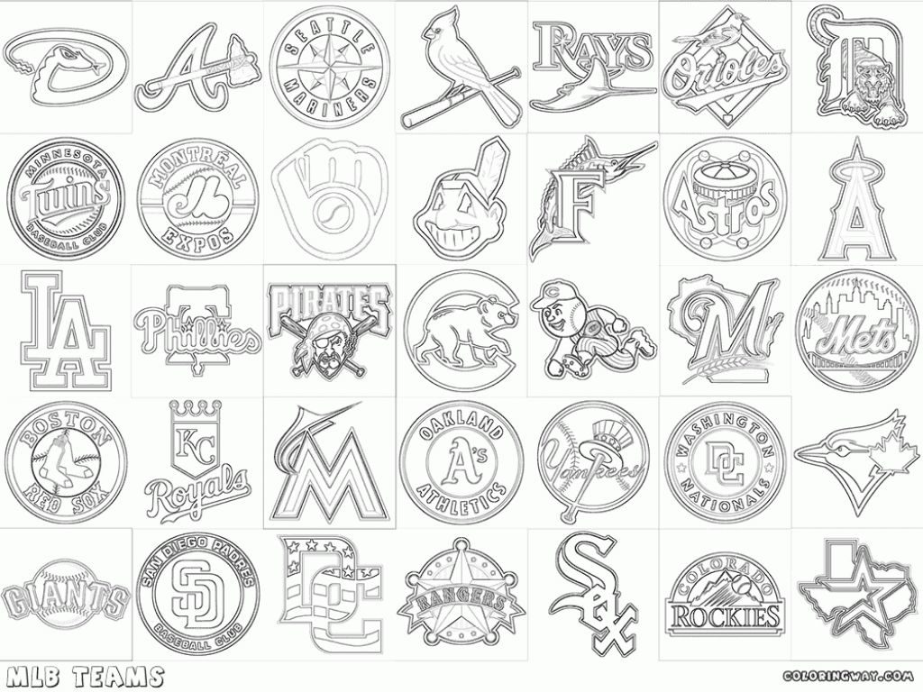 1024x768 Mlb Coloring Pages Mlb Coloring Pages Coloring Pages Baseball