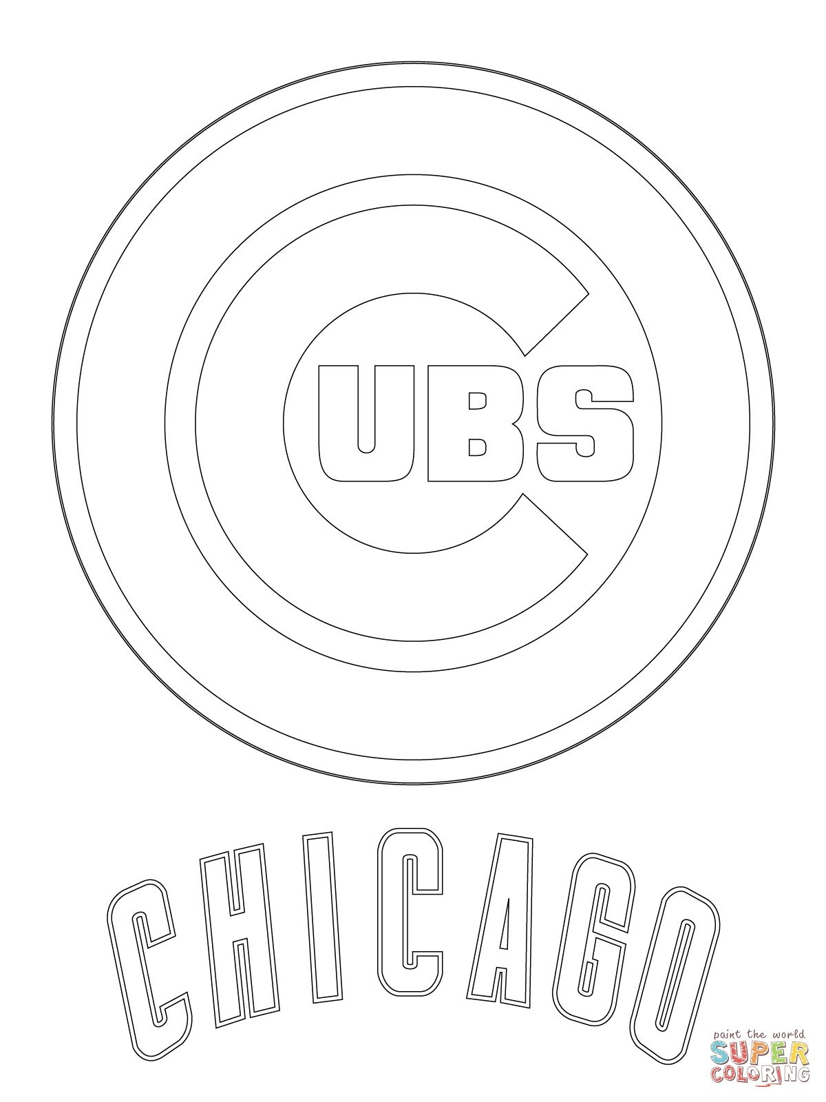1200x1600 Chicago Cubs Logo Super Coloring Sports New Coloring