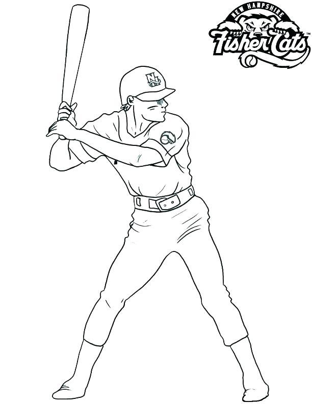 612x792 Baseball Coloring Pages Mlb These Baseball Of Baseball Players