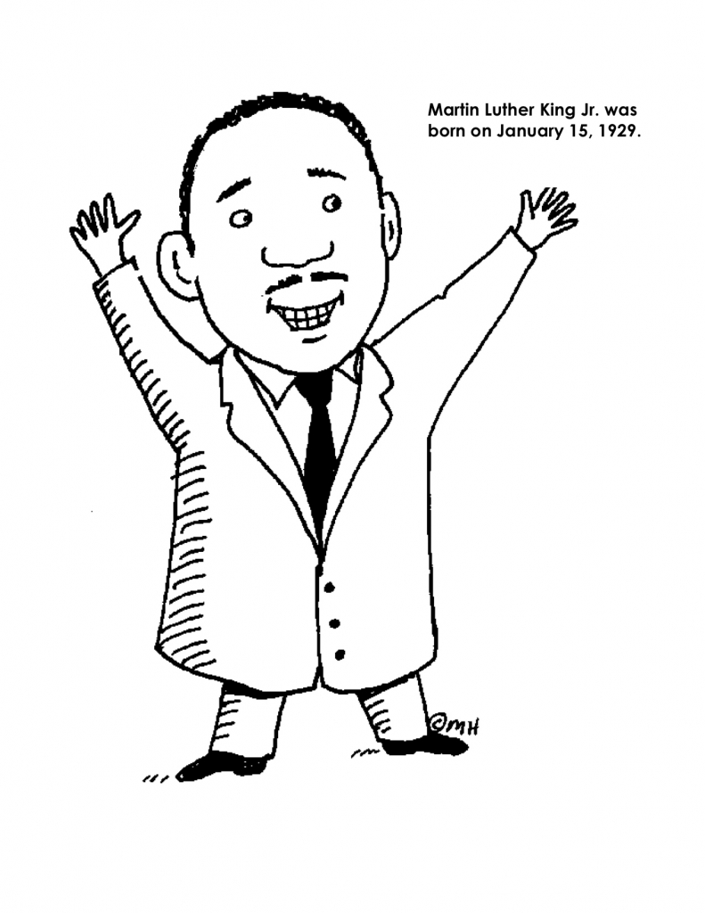 791x1024 Martin Luther King Day Coloring Pages Aecost Net And Jr