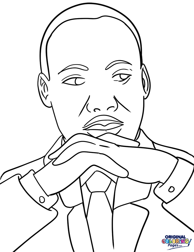 815x1056 Martin Luther King Day Coloring Pages Original Coloring Pages