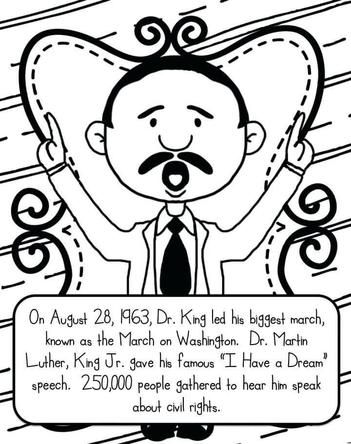 720x911 Martin Luther King Jr Coloring Pages Printable Free Printable