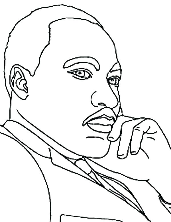 600x777 Martin Luther King Jr Coloring Pages Worksheetshtml For Dr Designs