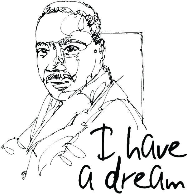 600x620 Martin Luther King Printable Coloring Pages Day Coloring Pages