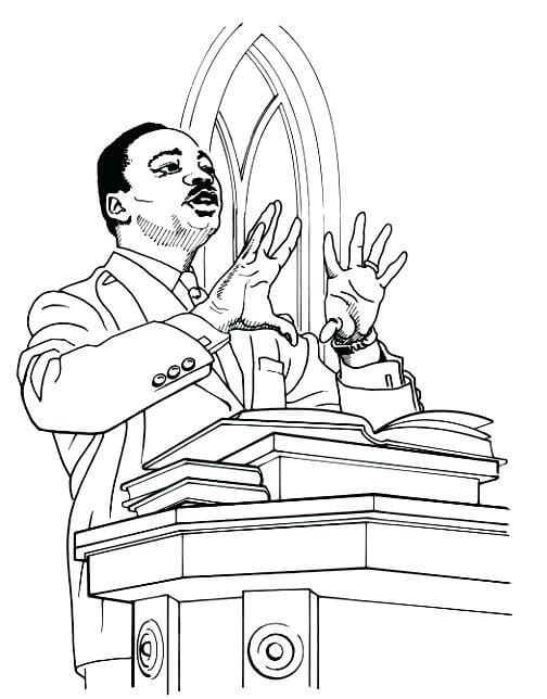 504x644 Free Printable Martin Luther King Jr Day Coloring Pages