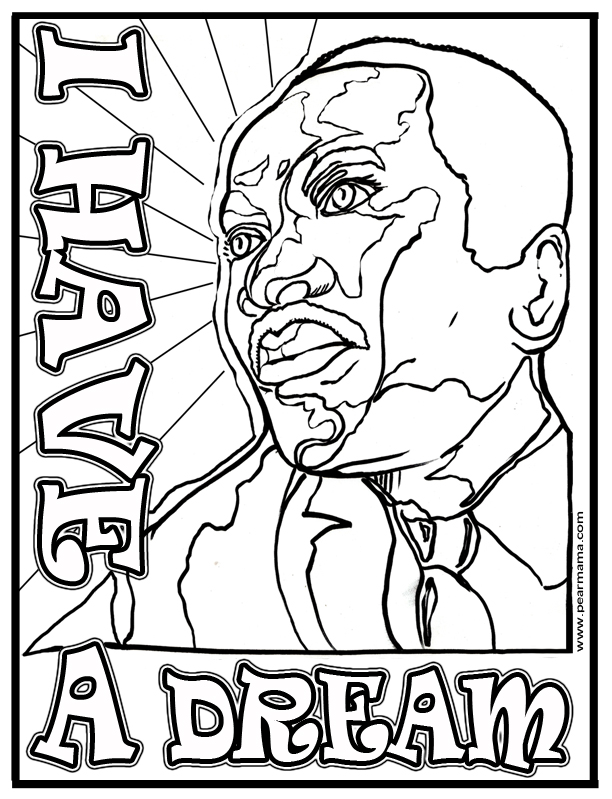 612x799 I Have A Dream Coloring Pages I Have A Dream Mlk Coloring Page
