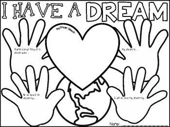 350x263 Mlk Day Coloring Pages With Short Writing Prompts Tpt