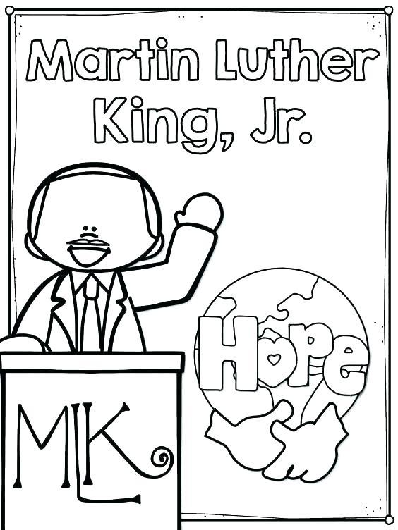 Mlk Jr Coloring Page At GetDrawings Free Download