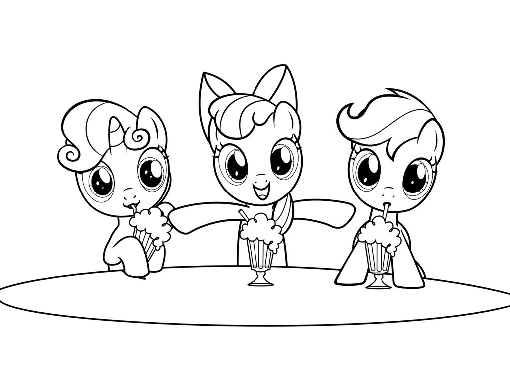 1024x768 Mlp Coloring Page