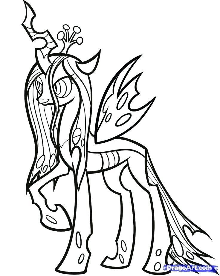 736x921 Mlp Coloring Page Coloring Pages How To Draw Queen Chrysalis My