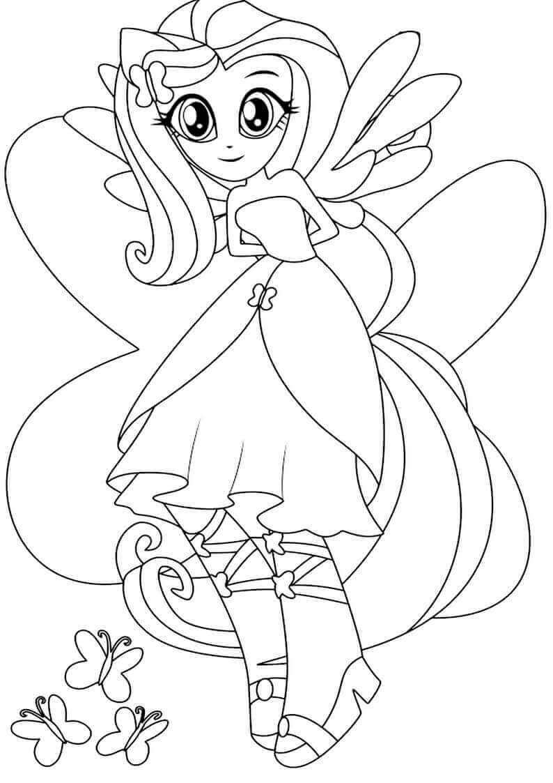 Mlp Coloring Pages Equestria Girls