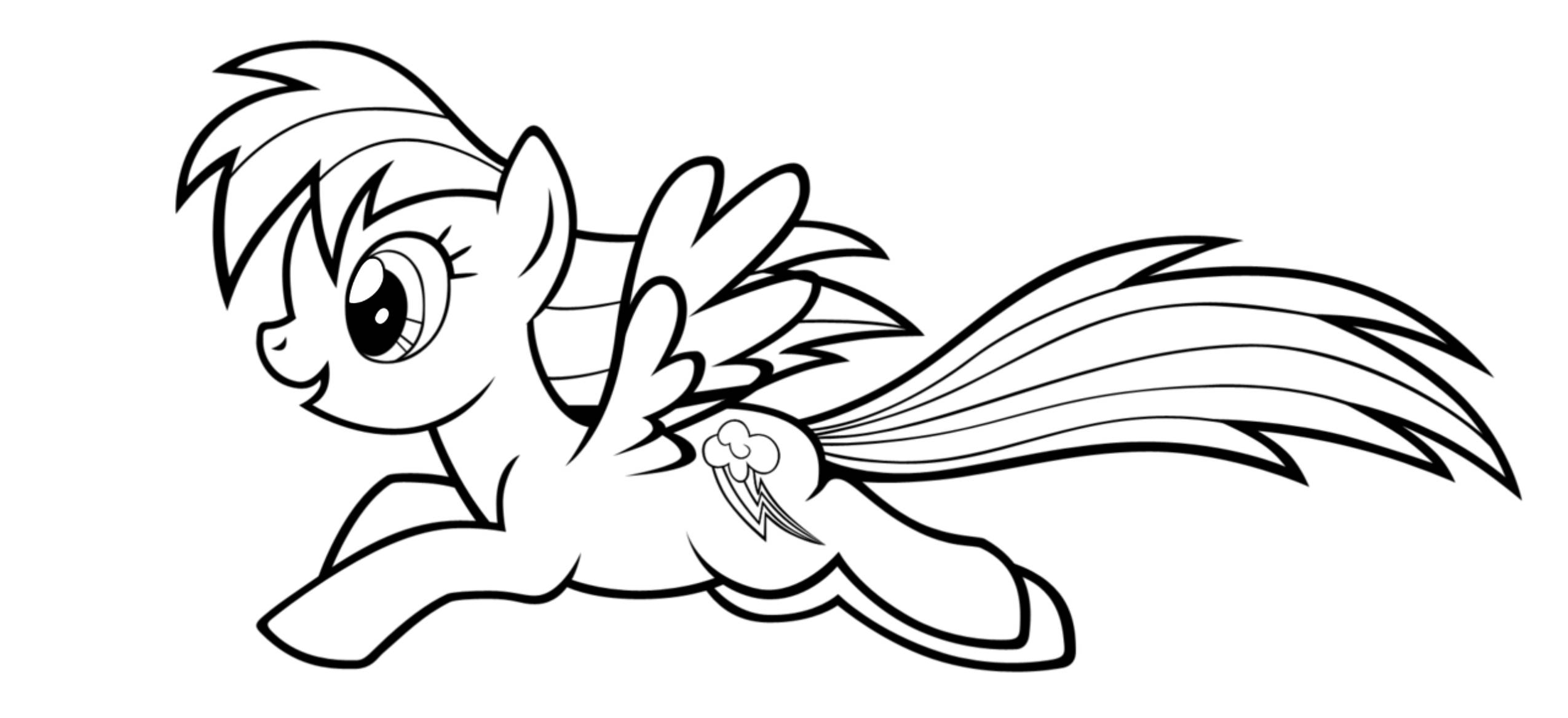 2550x1169 Mlp Coloring Pages