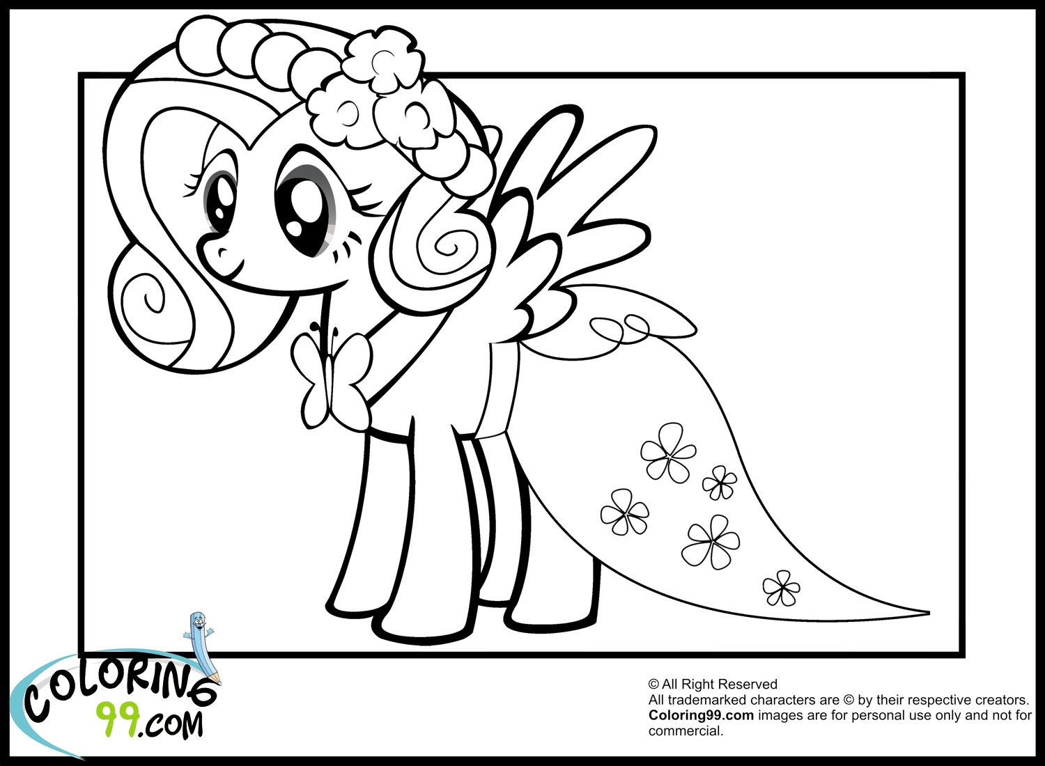 1500x1100 Mlp Coloring Pages Inspirational My Little Pony Fluttershy
