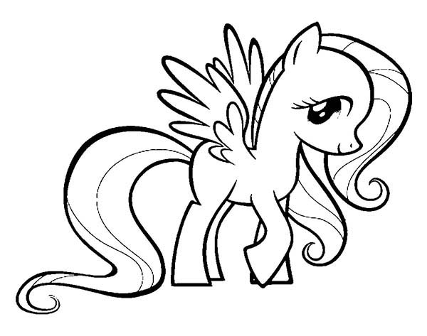 600x473 My Little Pony Fluttershy Coloring Page