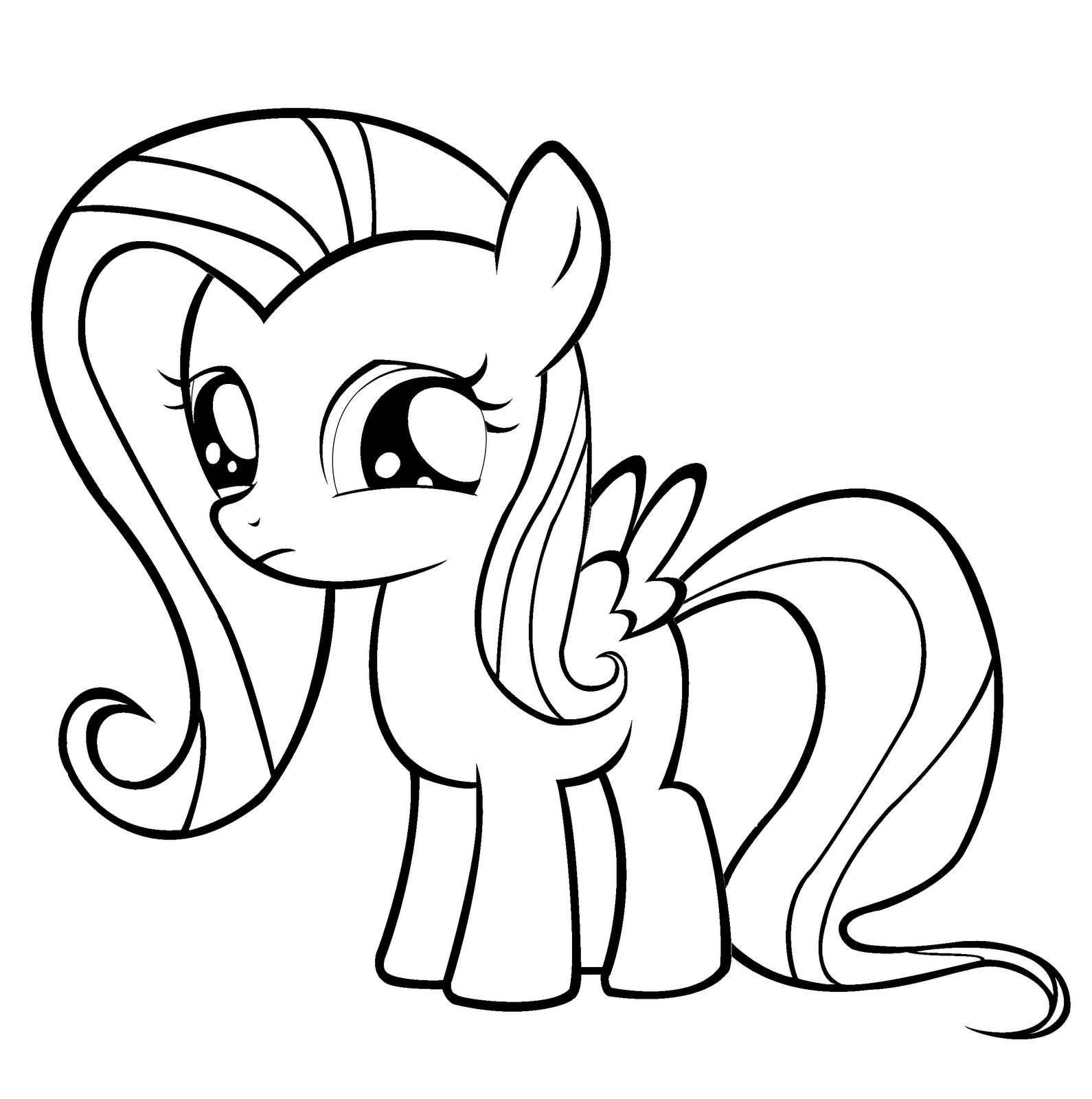1590x1600 My Little Pony Fluttershy Coloring Pages
