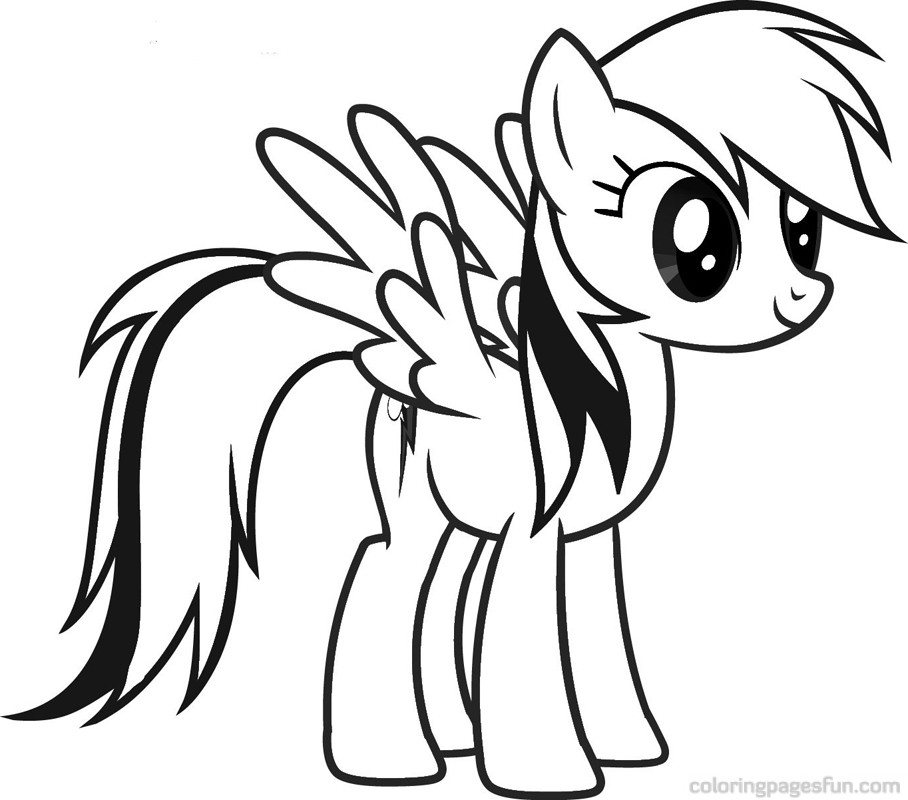908x800 My Little Pony Rainbow Dash Coloring Pages