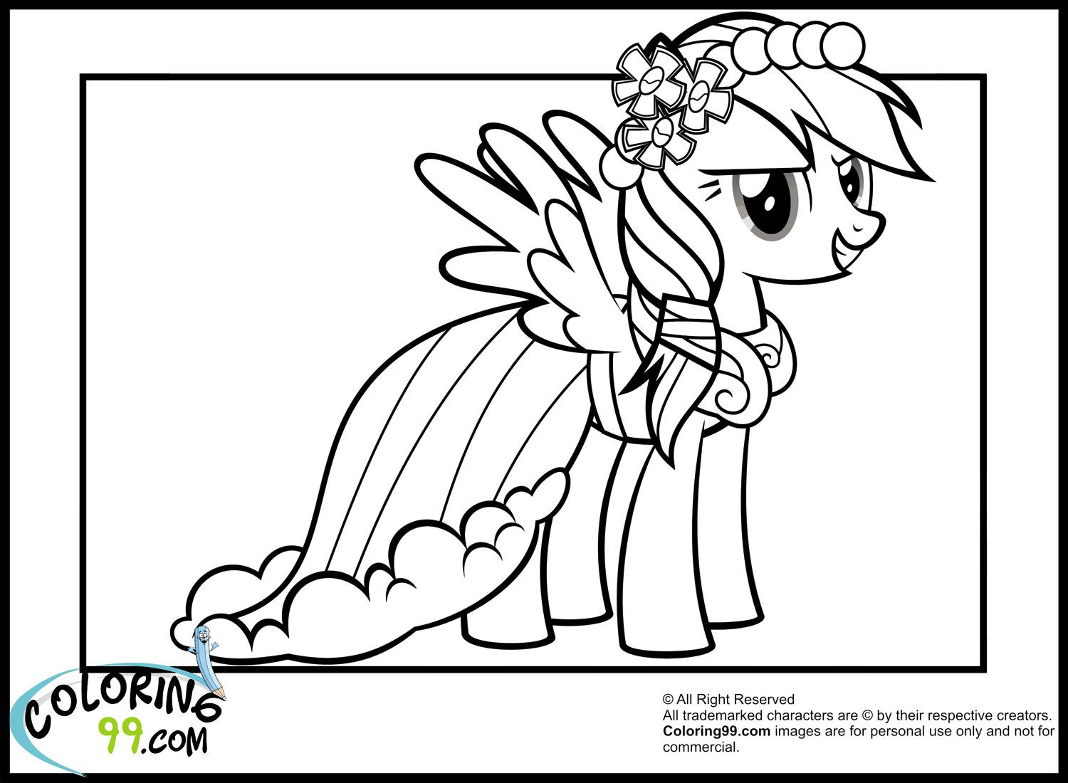 1500x1100 Rainbow Dash Colouring Pictures