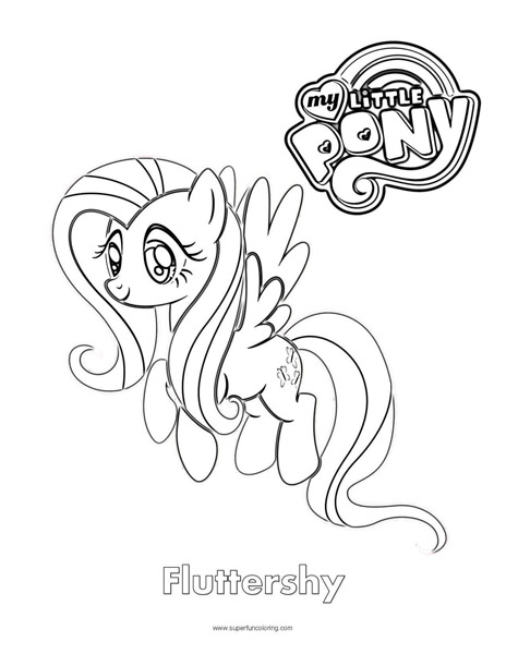 464x600 Fluttershy My Little Pony Coloring Page