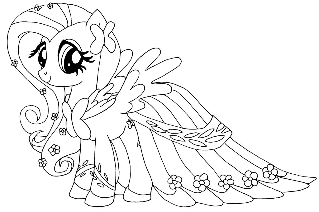 1024x681 Fluttershy Coloring Pages