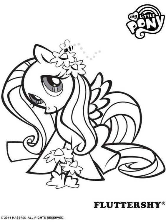 564x752 Fluttershy Pony Coloring Pages Fluttershy, Pony