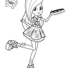 220x220 Fluttershy Coloring Pages