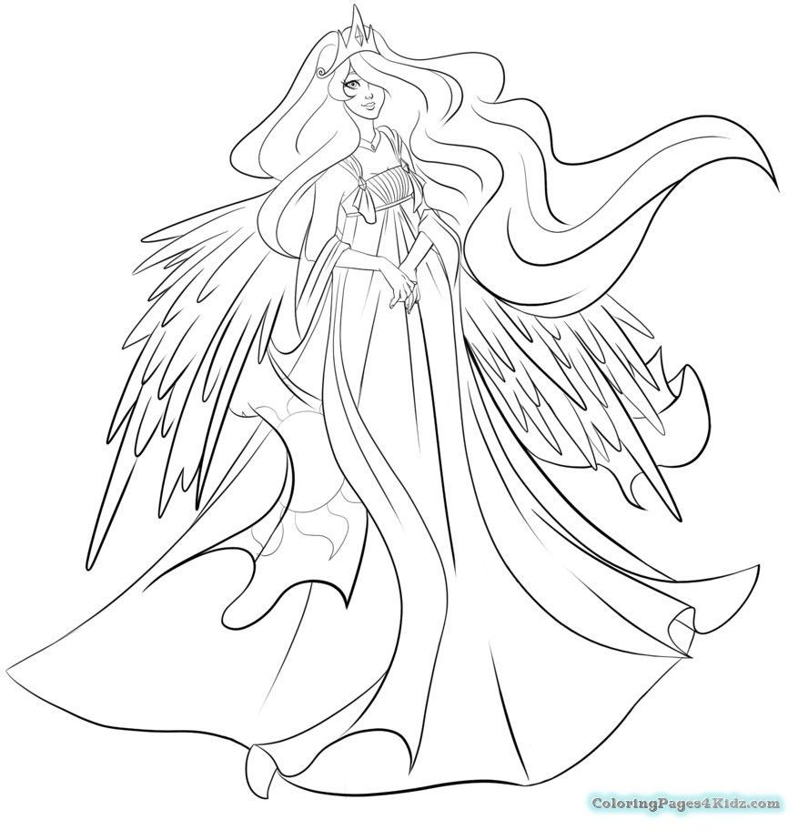 877x912 My Little Pony Coloring Pages Luna
