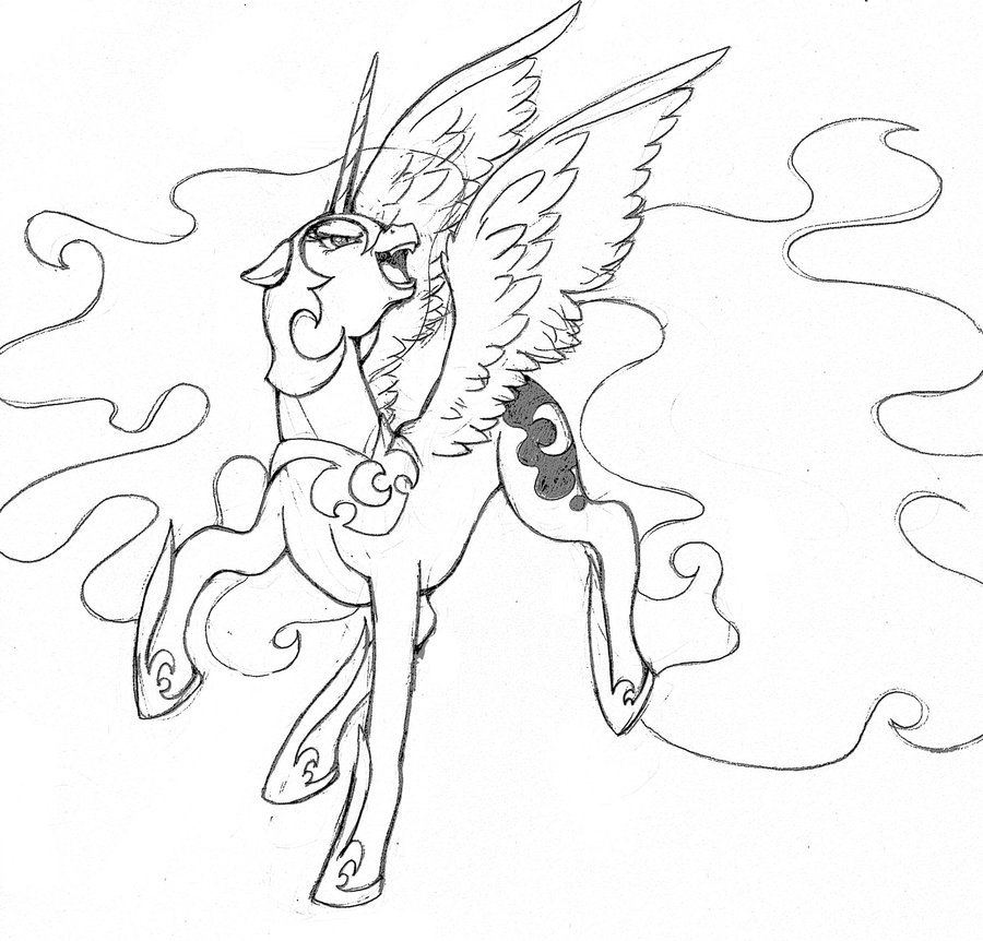900x862 My Little Pony Nightmare Moon Coloring Pages