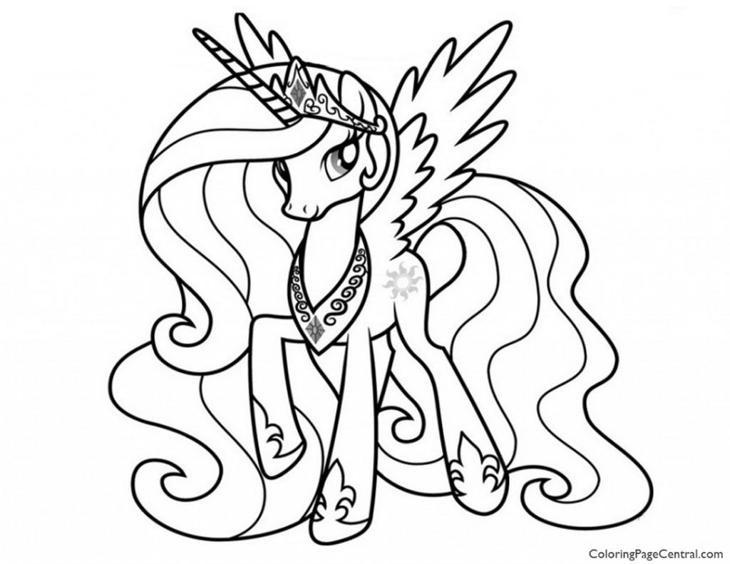 1024x791 My Little Pony Princess Celestia Coloring Page Coloring