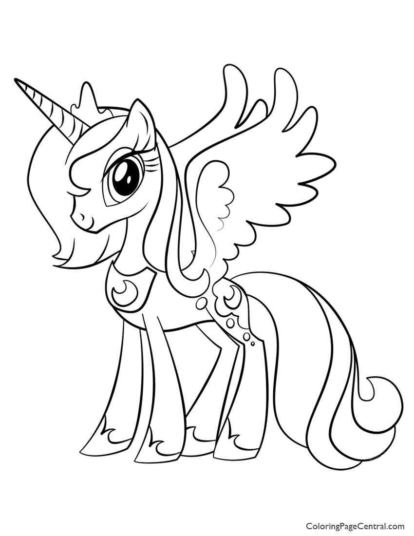 850x1100 My Little Pony Princess Luna Coloring Page Coloring Page