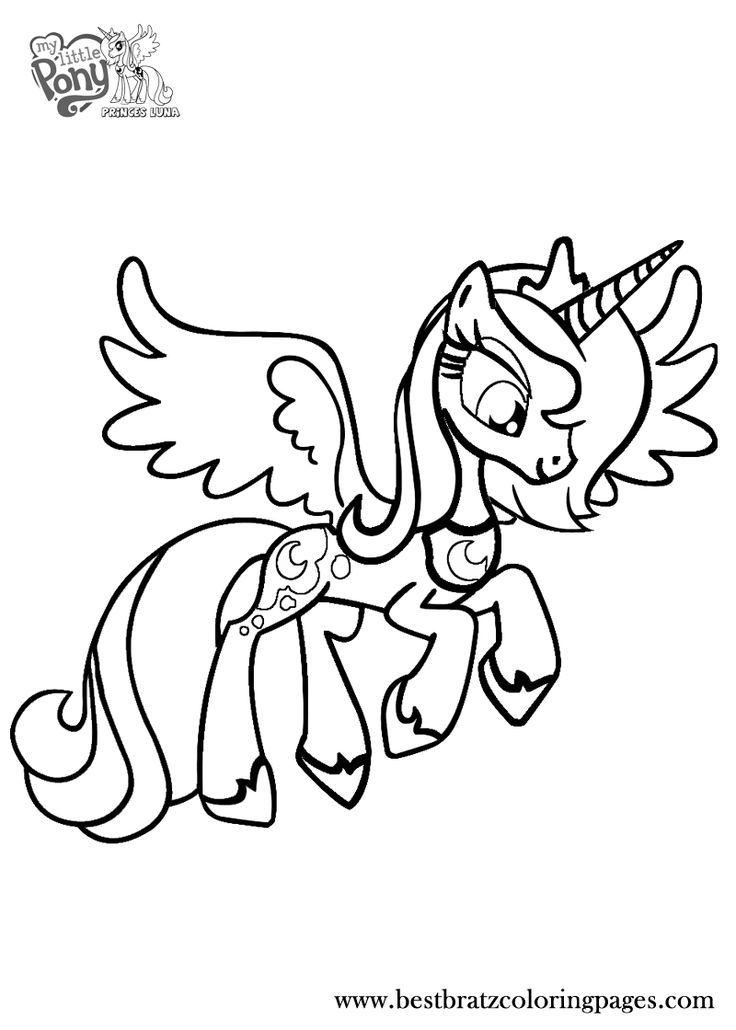 736x1030 Princess Luna Coloring Pages