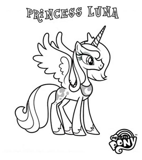 600x676 Princess Luna In My Little Pony Coloring Page