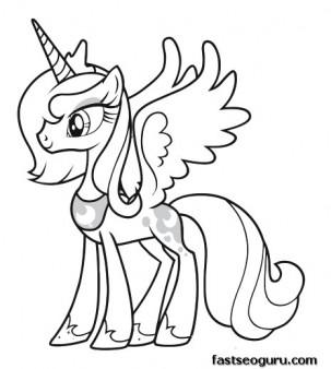 303x338 Printable My Little Pony Friendship Is Magic Princess Luna