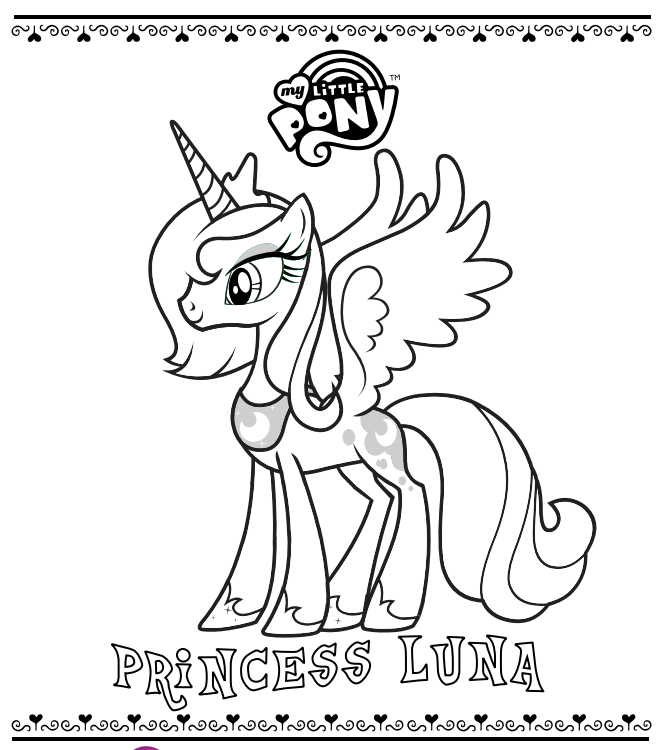 666x750 Mlp Printable Coloring Pages Official My Little Pony Site