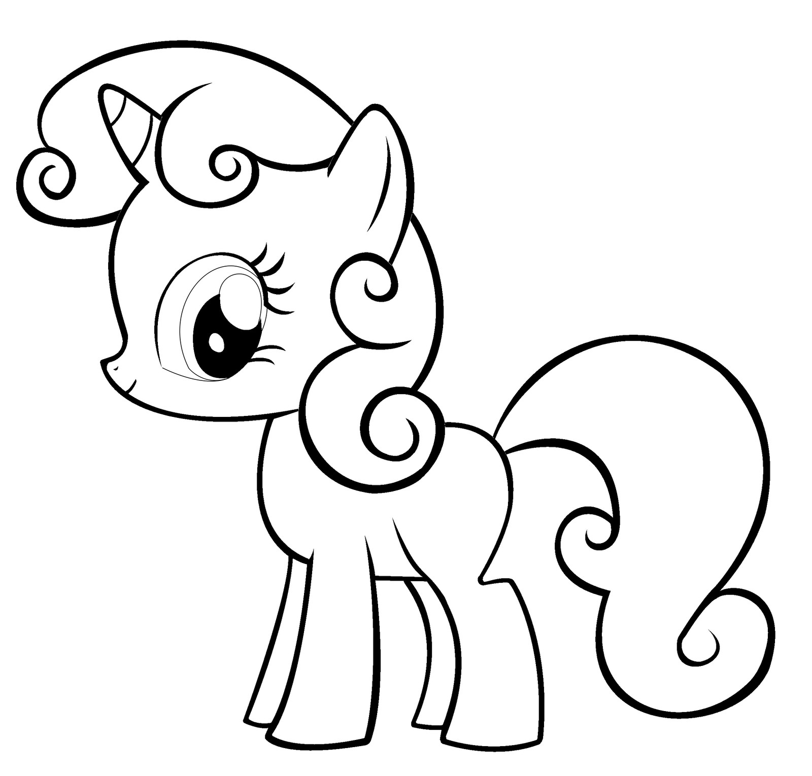 1600x1530 Cute Mlp Coloring Pages Baby Princess Luna