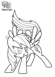 236x330 My Little Pony Coloring Pages Rainbow Dash For Kids Coloring