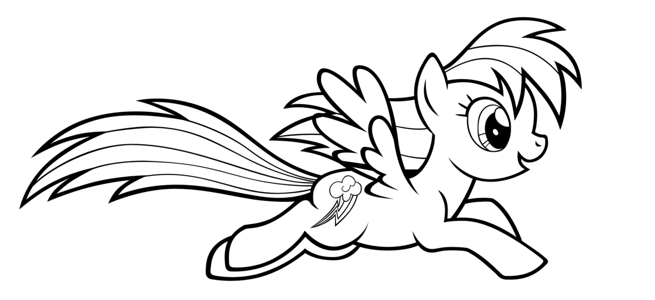 1280x587 Rainbow Dash Christmas Coloring Sheets Rainbow Dash Coloring Pages