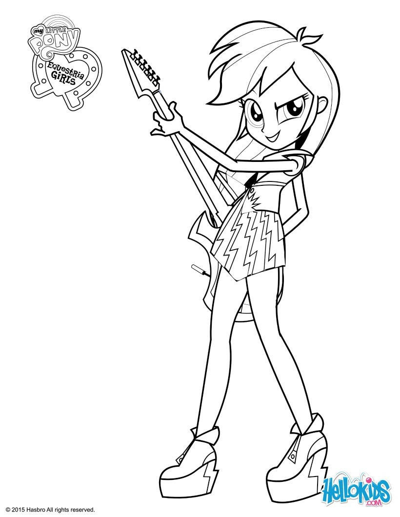 820x1060 My Little Pony Coloring Pages Rainbow Dash Equestria Girls Free