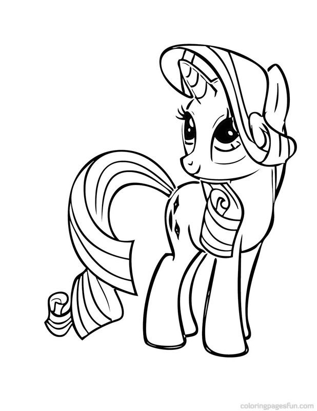 618x800 My Little Pony Coloring Pages Rarity Up Over The Rainbow