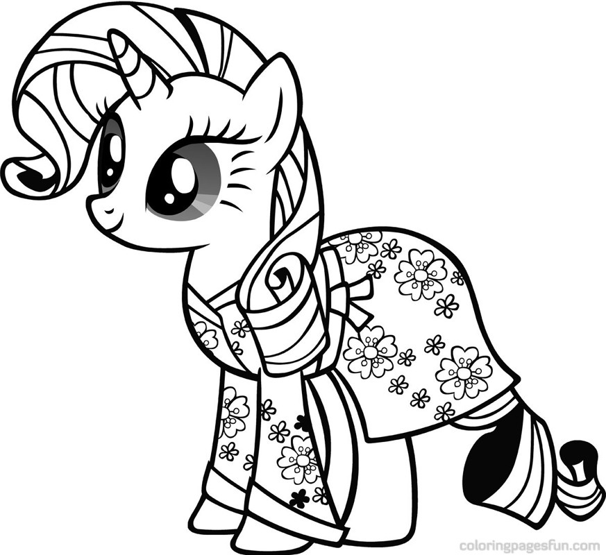 873x800 Rarity My Little Pony Coloring