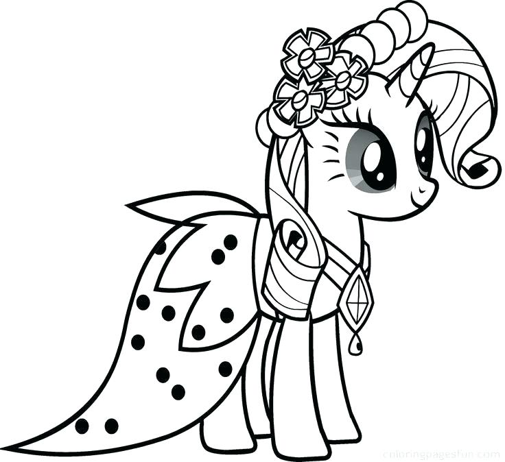 736x674 Mlp Coloring Pages Rarity Professional