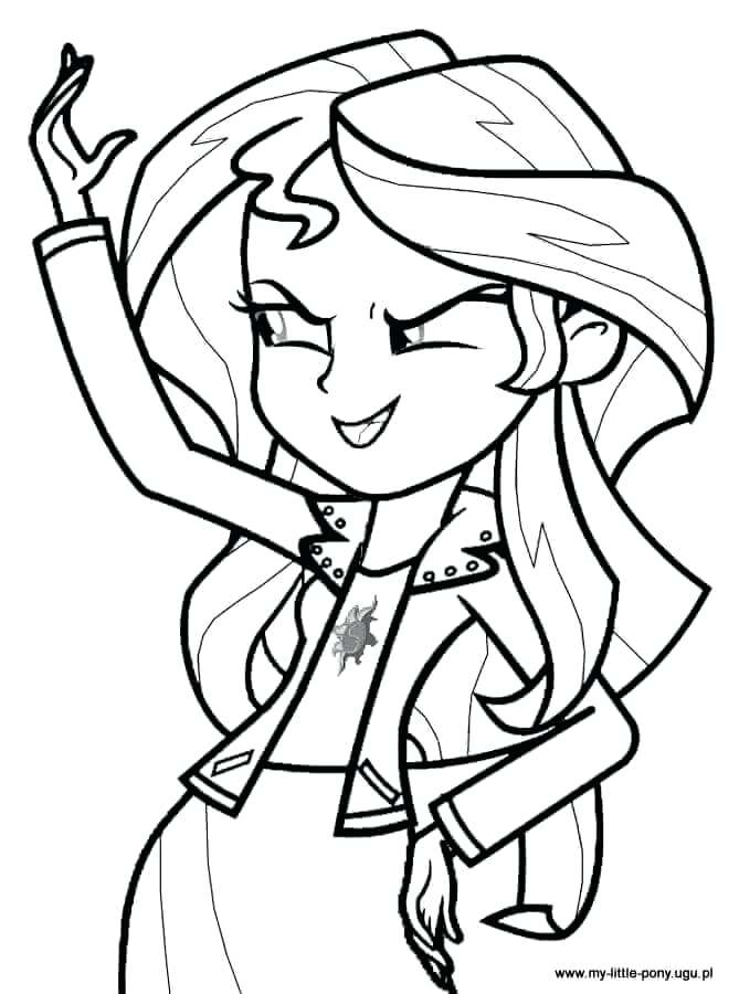 669x900 Mlp Eg Coloring Pages Sunset Shimmer From My Little Pony Girls
