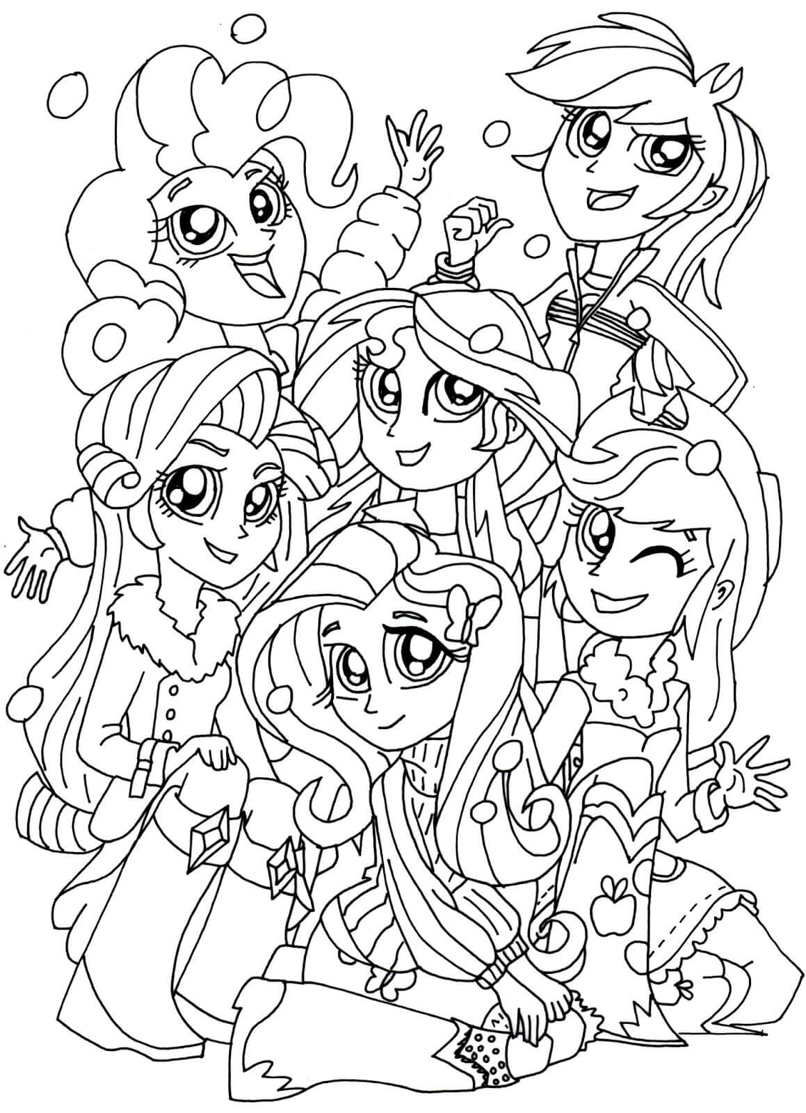 1159x1600 Equestria Girls Coloring Pages