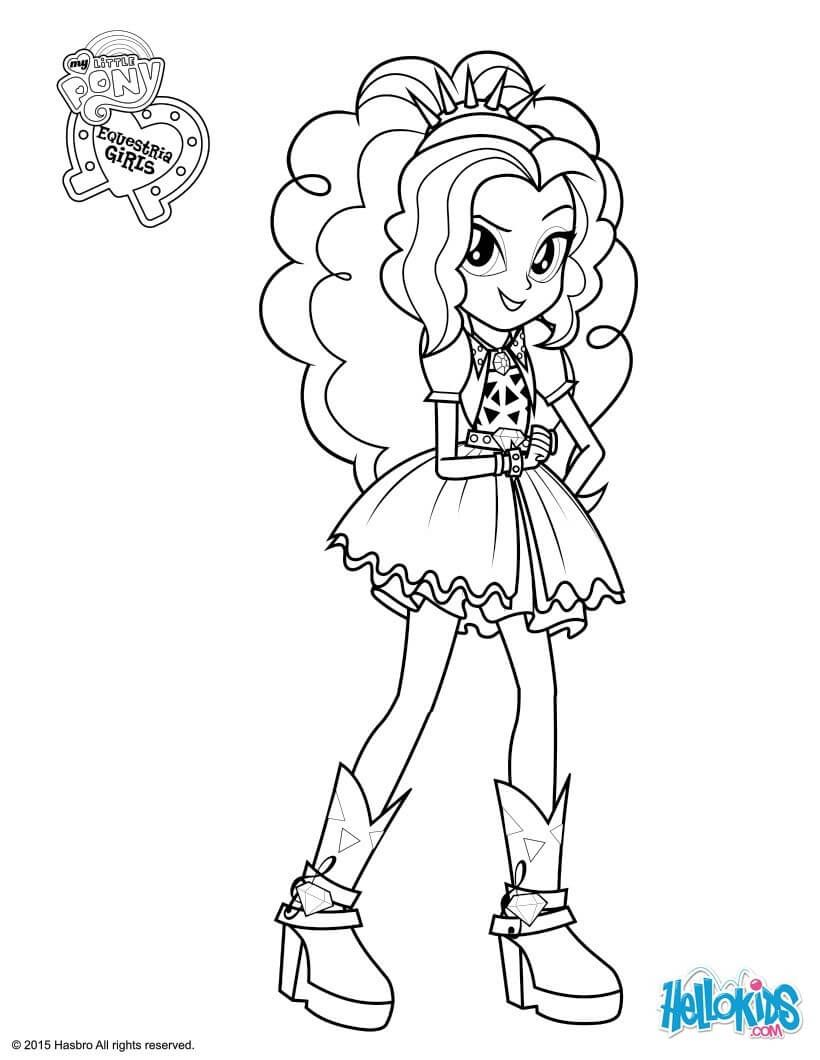 820x1060 Equestria Girls Coloring Pages Page Collection Printable Within