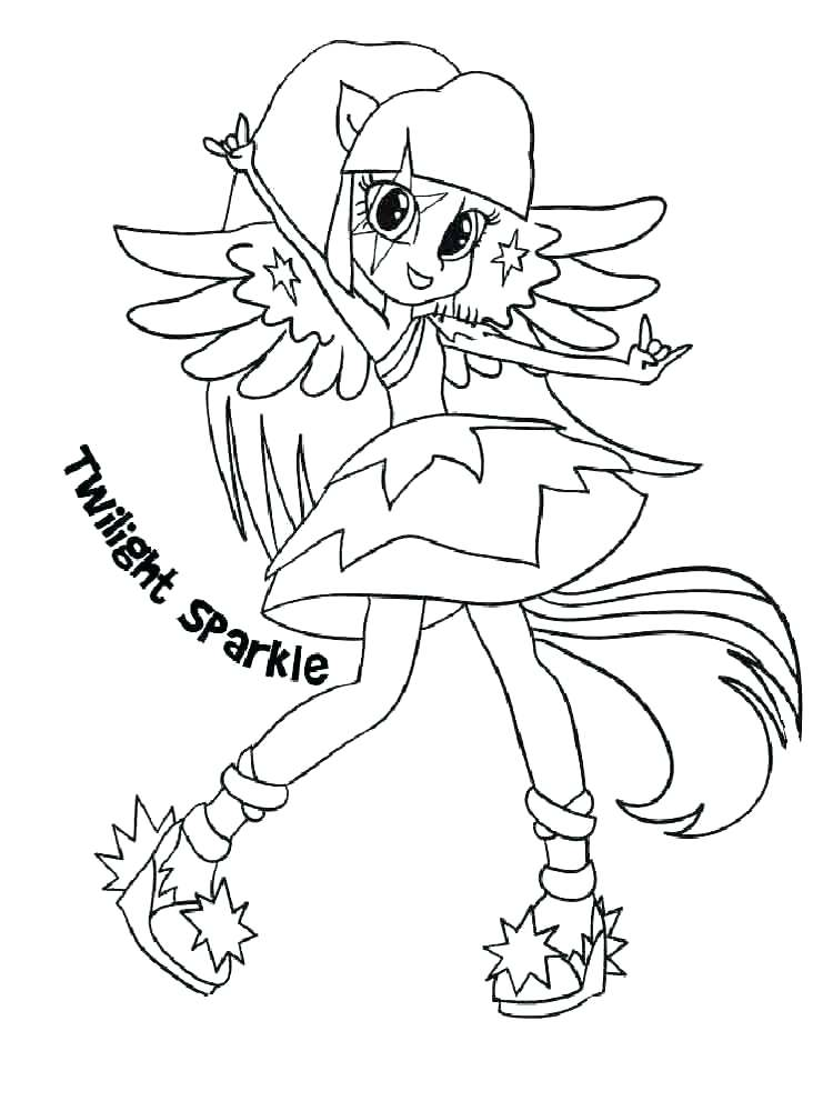 Mlp Equestria Girls Coloring Pages At Getdrawings Com Free