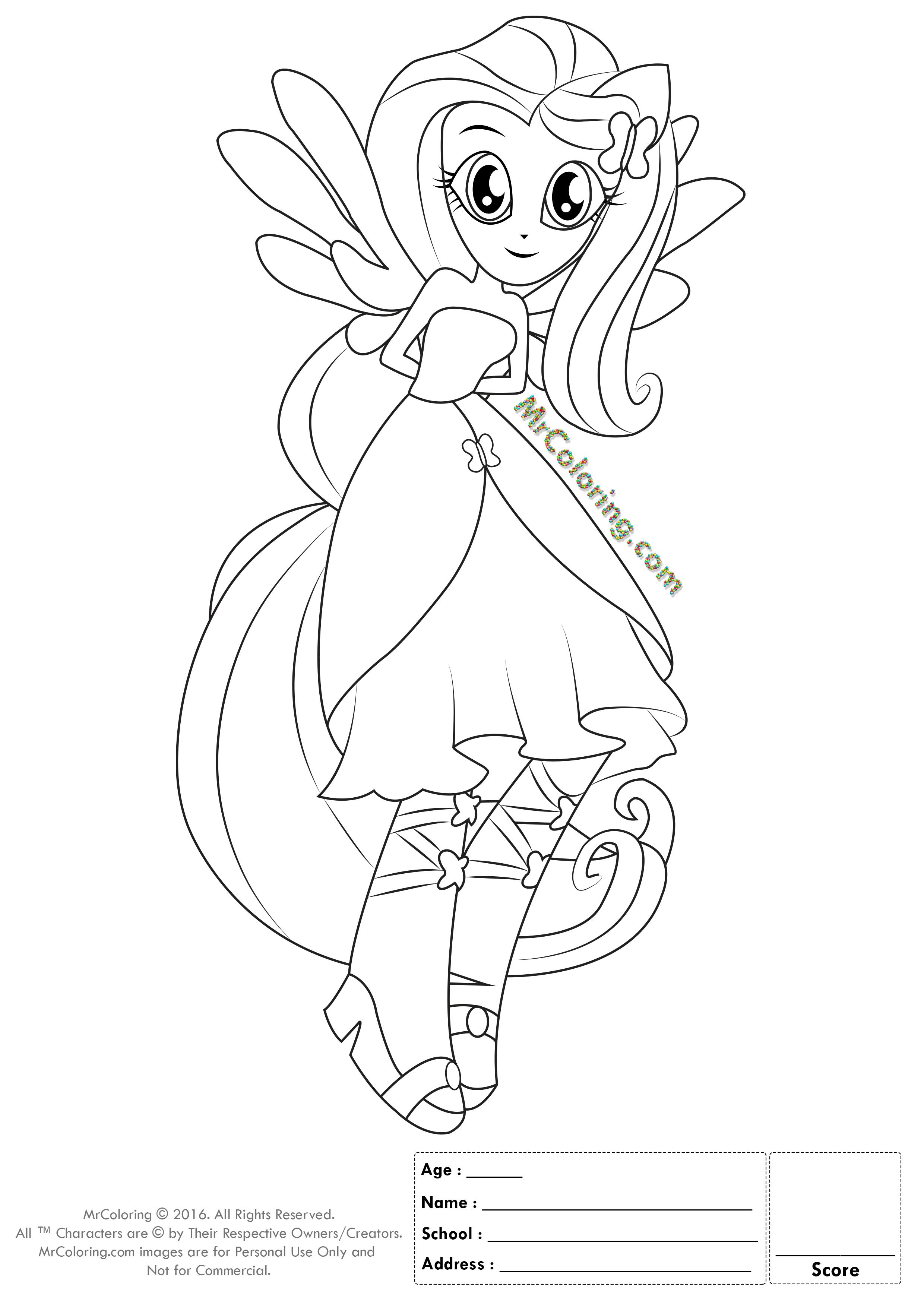 princess fluttershy kleurplaat woyaolu info