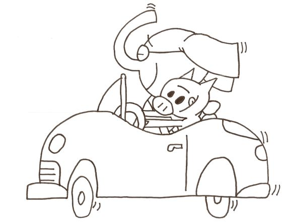 564x441 Mo Willems Coloring Pages Piggie And Elephant Coloring Pages