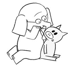 236x229 Elephant And Piggie Coloring Page Kid Stuff Mo