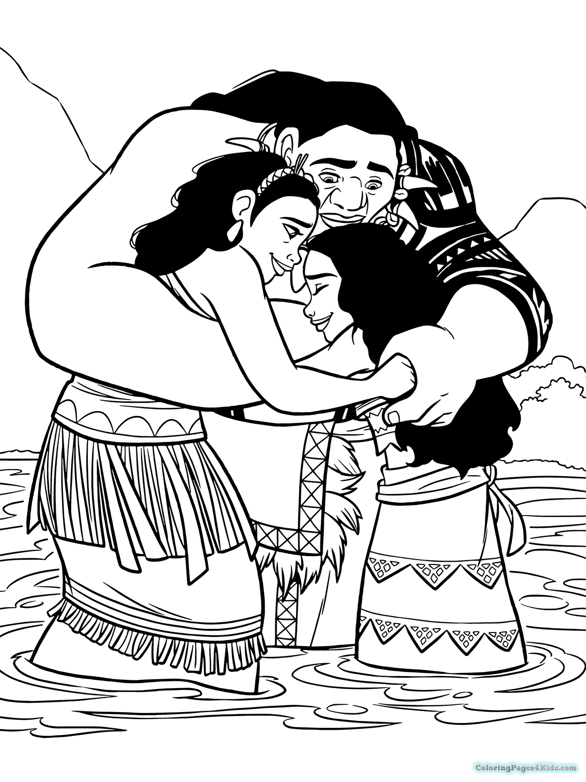 Moana Coloring Pages For Kids At Getdrawings Com Free For Personal