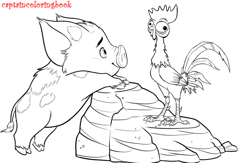 Moana Coloring Pages Free At Getdrawings Com Free For Personal Use